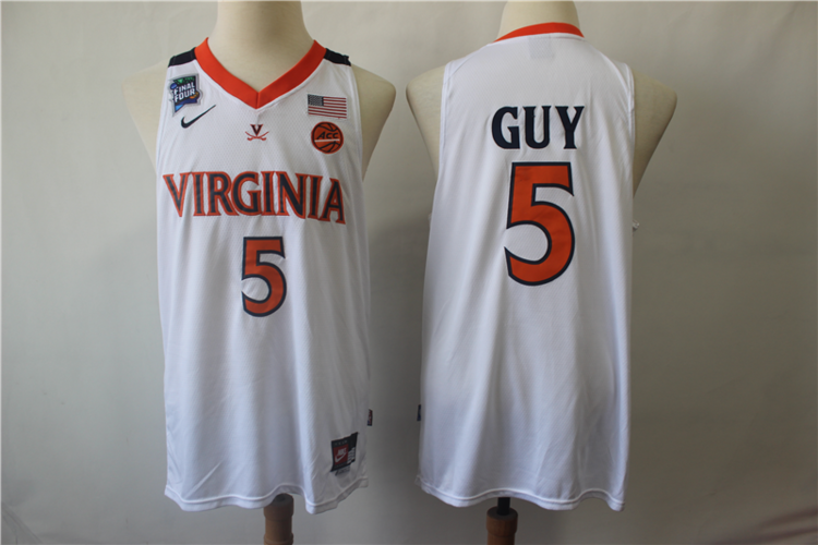 new arrival 3c984 86d32 NWT Mens Youth NCAA Virginia #5 Guy Fully Stitched NBA Jersey Wholesale  Customize & Sublimation