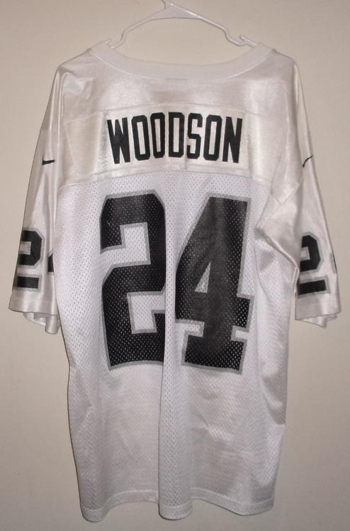 New Lot of 3 Oakland Raiders Jerseys (Woodson, Moss, & Ismail) (Adult