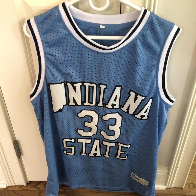 buy online 22c81 abddb Larry Bird Indiana State Jersey