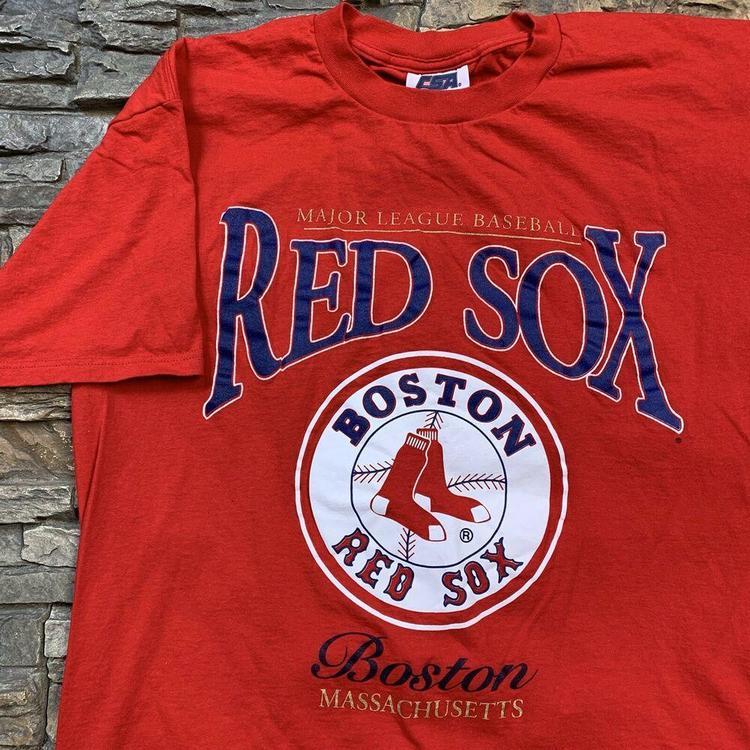 47316069156 VTG Boston Red Sox T Shirt MLB Baseball 1990s Circle Logo Tee Mens XL.  Related Items