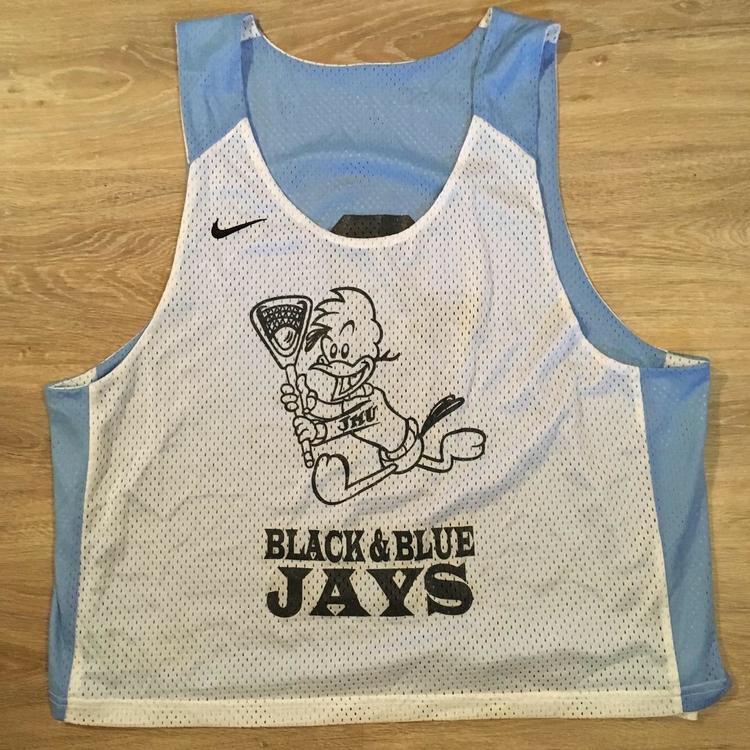 """buy online f8c6a 573e0 (L/XL) Nike Johns Hopkins """"Black & Blue Jays"""" / Lake Placid Tournament  Reversible Jersey"""