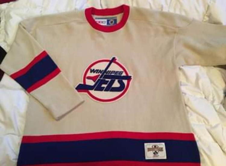 timeless design cbde2 6d8c8 CCM Heritage Winnipeg Jets Sweater