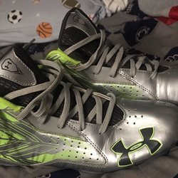 0243a6a4bc6 Under Armour UA Highlight MC sz 11.5 White 1297358 100 Football Cleat