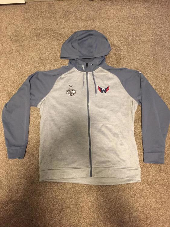 sneakers for cheap 14637 37cc9 Adidas Washington Capitals Stanley Cup Finals Full Zip Hoodie