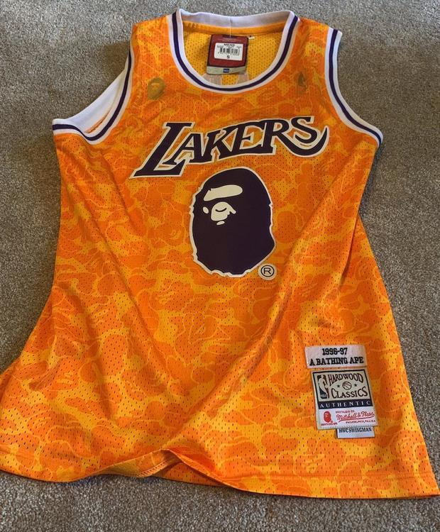 huge discount d590f 1a9db Swingman Bape Lakers Jersey