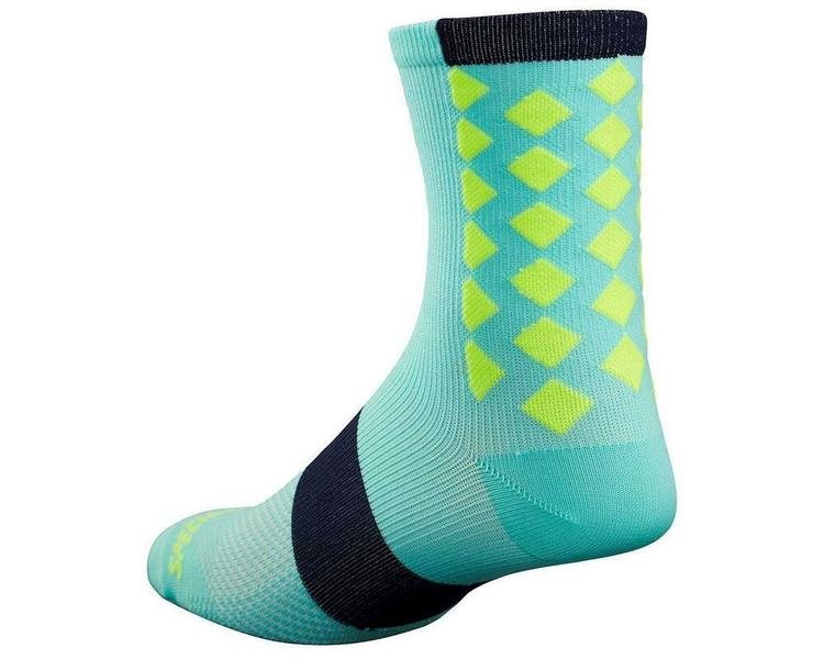 f6a760abc Specialized SL Tall Cycling Sock S/M Light Turquoise/Neon Yellow New Old  Stock. Related Items