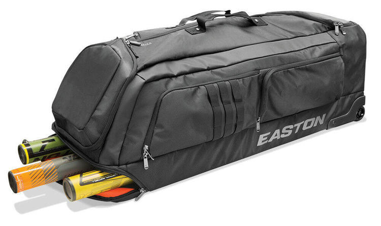 Easton Pro X Baseball Softball Wheeled Bat Equipment Bag Black A159040 No Trades
