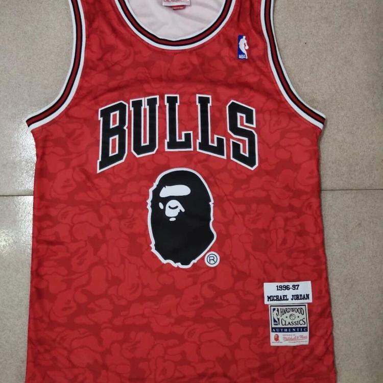 985ac8c1e09 Nike Nwt Mens Bulls Bape #93 Fully Stitched Jersey | Basketball ...
