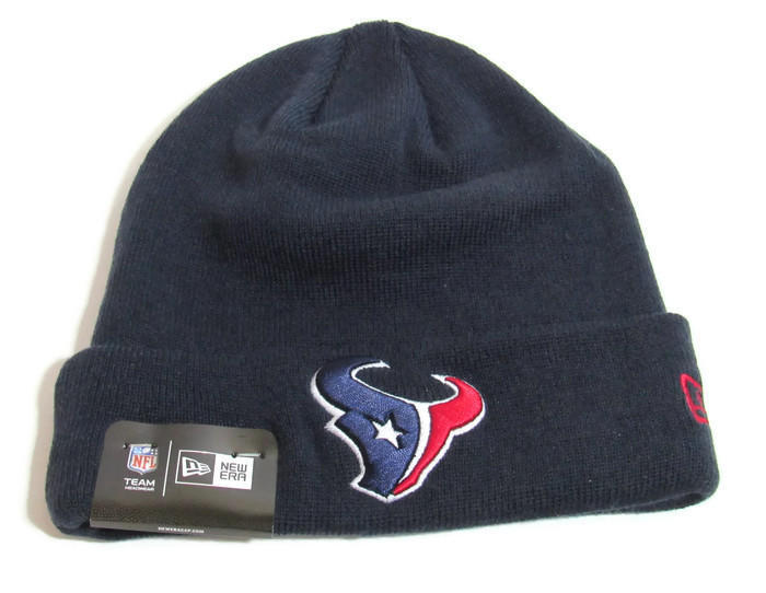 online store b9114 bb2a1 Houston Texans Industrial NFL Classic Hat New Era Knit Tuk Navy One size NEW    Football Apparel   SidelineSwap