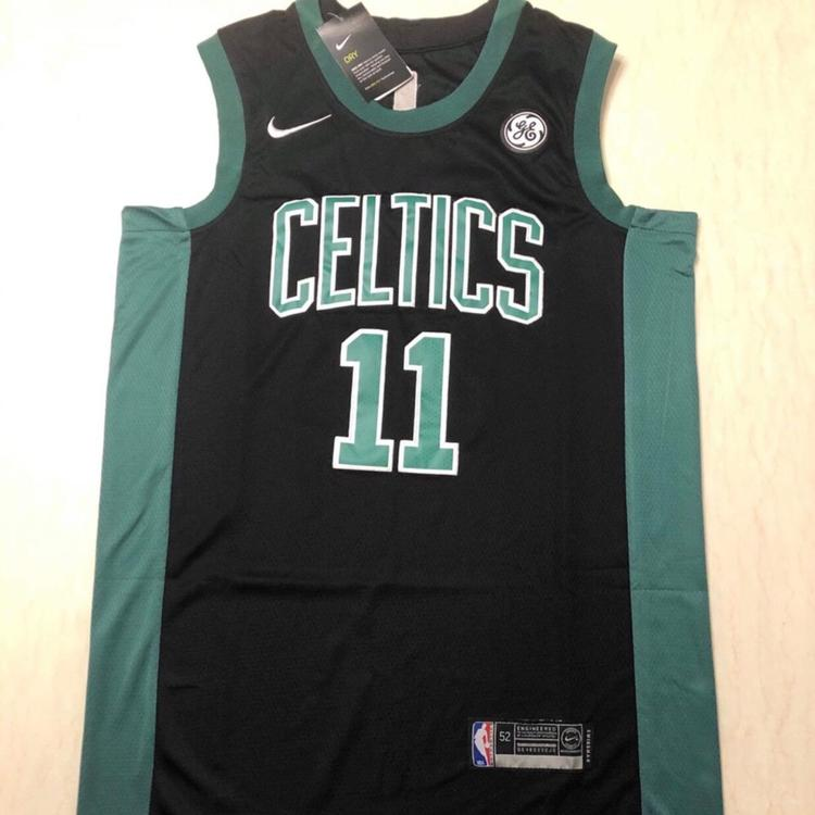 new styles a6d89 6d557 NWT Men's Boston Celtics Irving #11 Black Fully Stitched Jersey