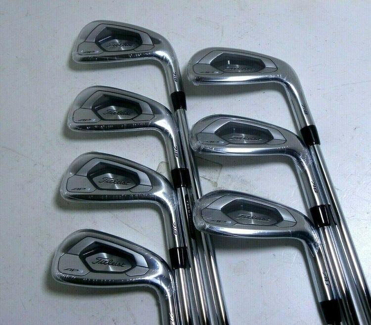 Titleist 718 AP3 Irons 5-PW +W48 RH Steel AMT Black S300 Stiff Flex 2* Flat  MINT