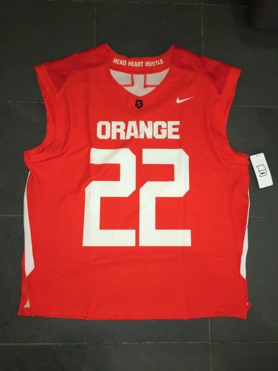 great fit 0ec99 043f7 New Nike 2018 Syracuse Orange #22 Lacrosse Jersey LG ORANGE