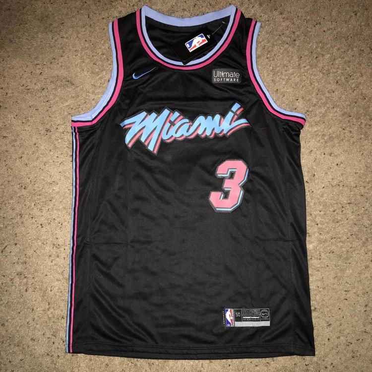 new concept 41ce4 0bd26 Dwayne Wade Miami Heat Nike Vice Jersey