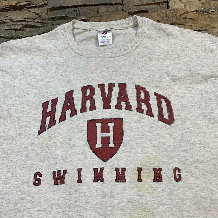 Harvard University Crimson Swimming Team Ivy League College T Shirt Mens XL