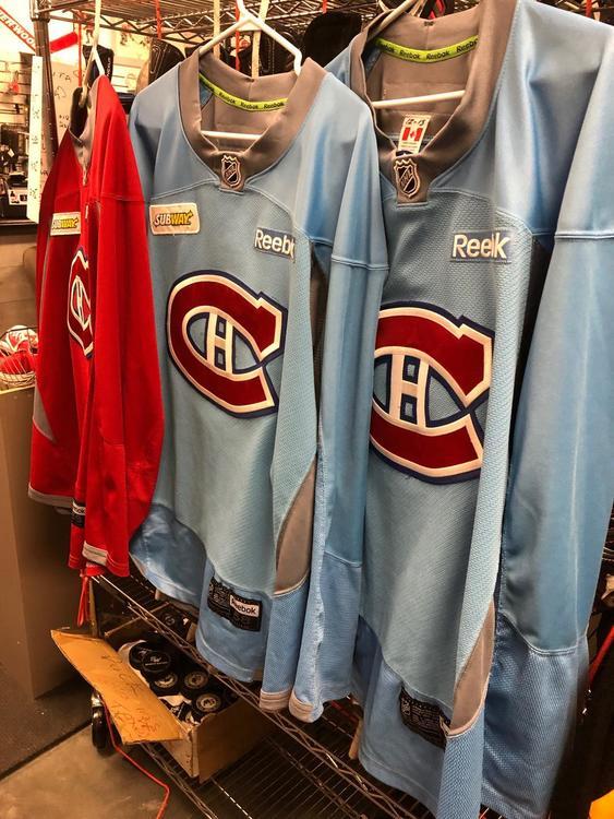 4525a6b310f Reebok Montreal Habs Practice Jersey   Hockey Apparel, Jerseys ...