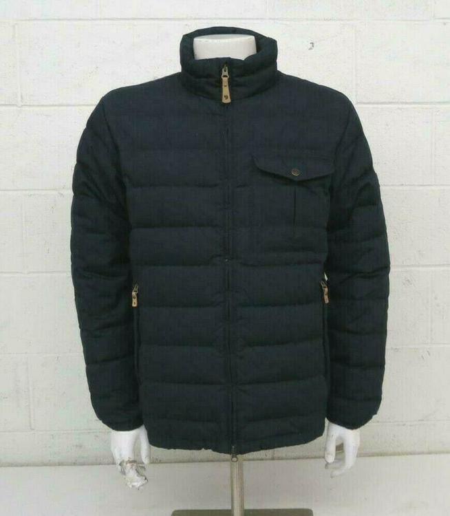 415a6b79c Fjallraven Ovik Lite Dark Blue Down Insulated G-1000 Greenland Wax Jacket  Medium