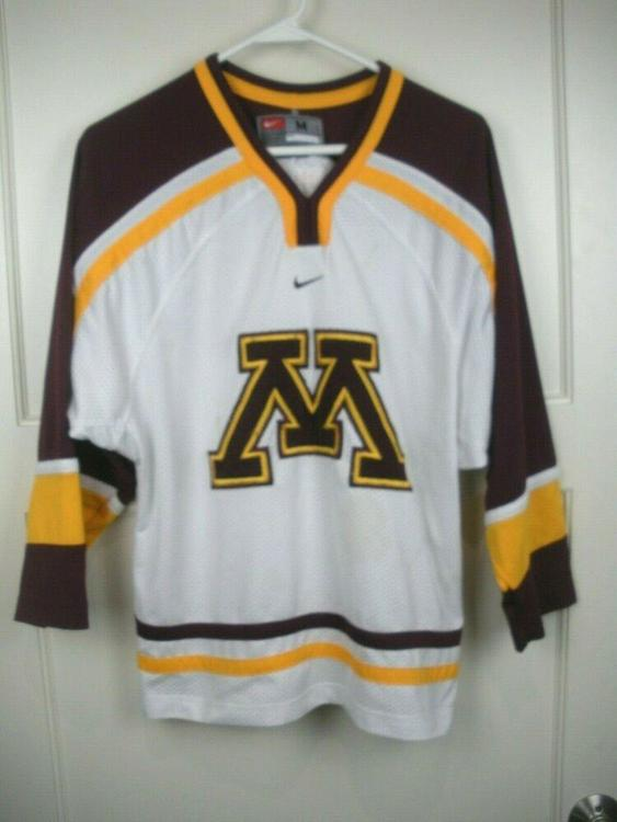 the latest 48b89 c3715 Minnesota Golden Gophers NCAA NIKE Stitched Hockey Jersey Youth Size  M