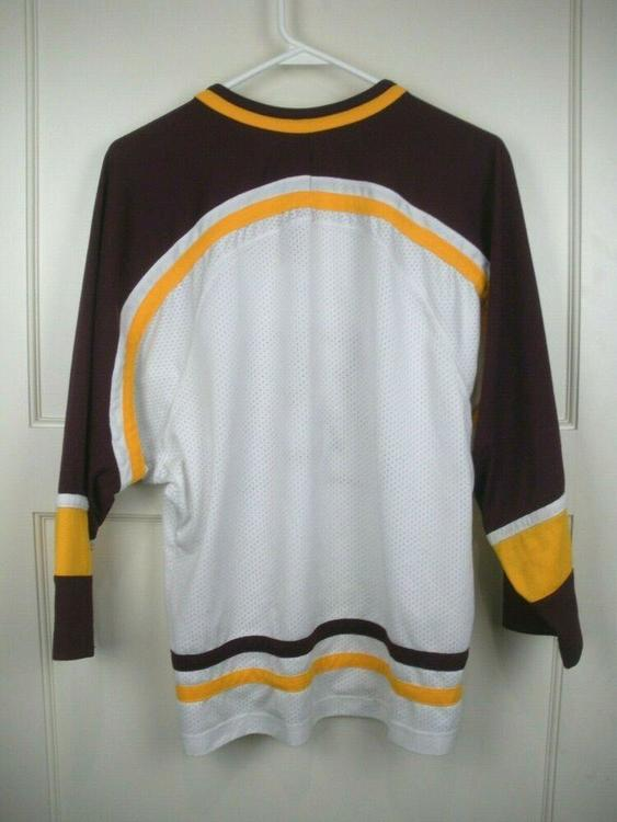 100% authentic b56ee 07a60 Minnesota Golden Gophers NCAA NIKE Stitched Jersey Youth Size  M   Hockey  Apparel, Jerseys   Socks   SidelineSwap