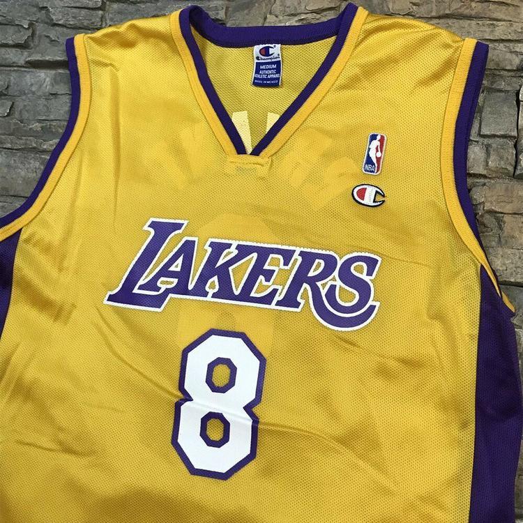best sneakers 9839b 88184 VTG Kobe Bryant Los Angeles Lakers Champion Brand Jersey NBA Men s ...