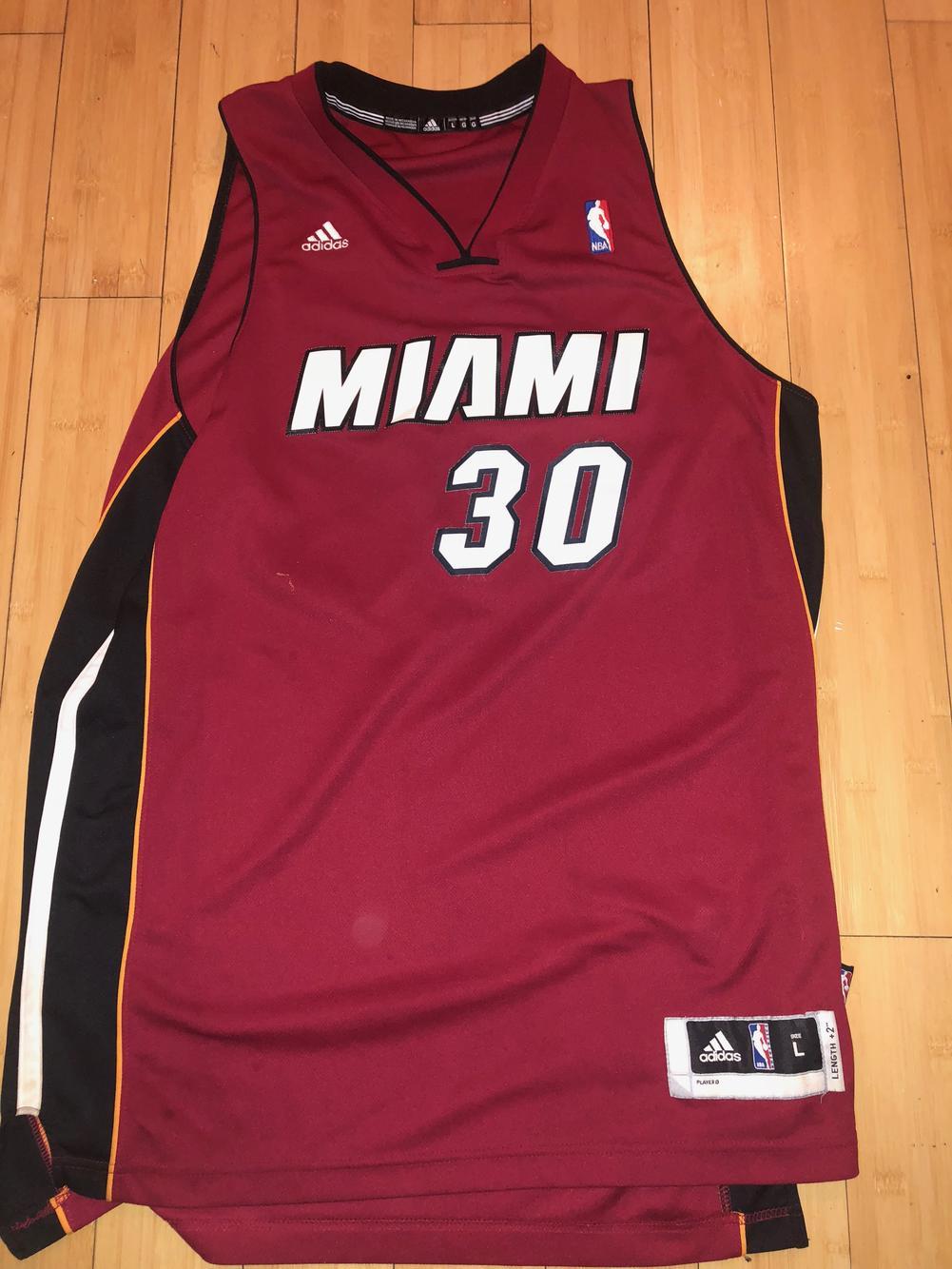 Large Adidas Miami Heat Jersey