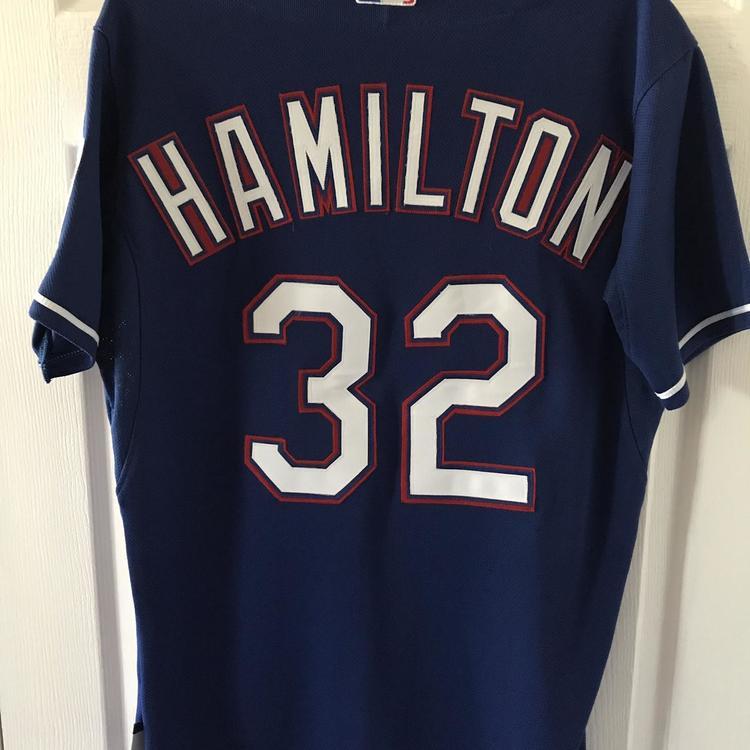 new product a9ebb a6952 Authentic Texas Rangers Josh Hamilton Blue Alternate Cool Base Jersey (Size  40)