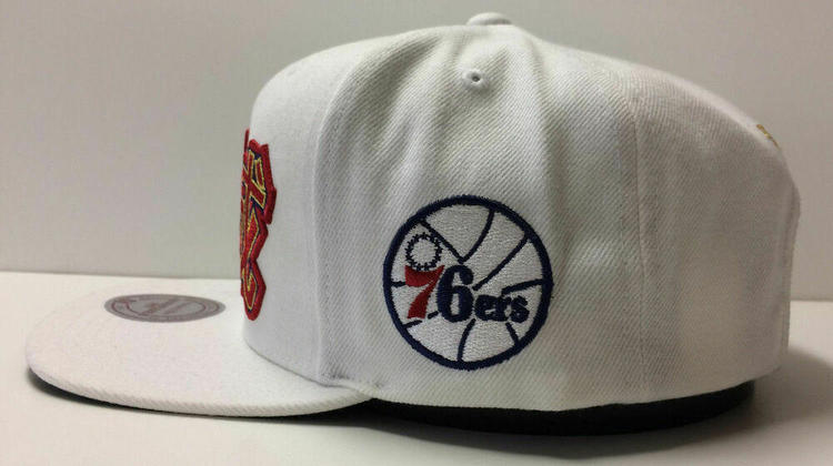 super popular 257f5 f0336 Philadelphia 76ers Mitchell   Ness NBA Snapback Hat Chinese New Year Cap  Sixers   Basketball Apparel   Jerseys   SidelineSwap
