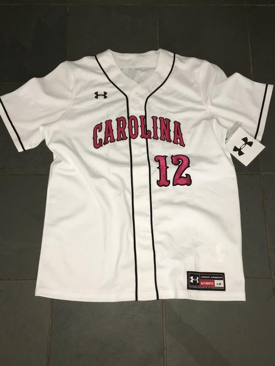 premium selection 4ff4f 7124b RARE NEW Under Armour SOUTH CAROLINA GAMECOCKS #12 Baseball Jersey sz LG