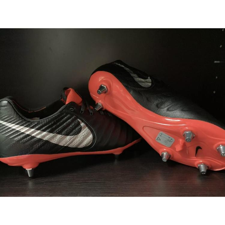 finest selection 4ed80 acaa0 New Mens Nike Tiempo Legend 7 Elite SG Soccer Cleats Black Red Sz 7