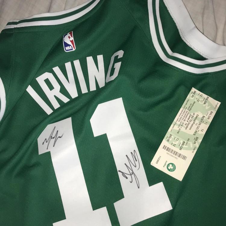 premium selection 05e2b d22cd Autographed Kyrie Irving Jersey