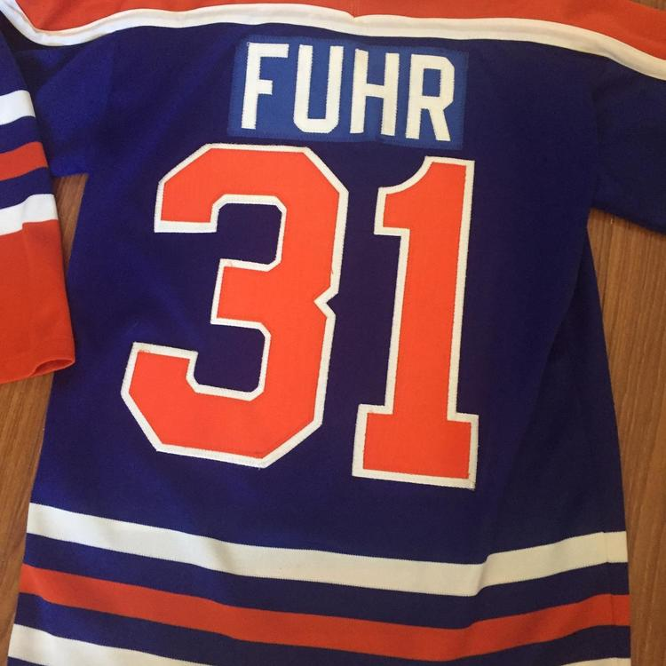 size 40 60e18 d82df Vintage Youth XL Grant Fuhr Jersey Edmonton Oilers