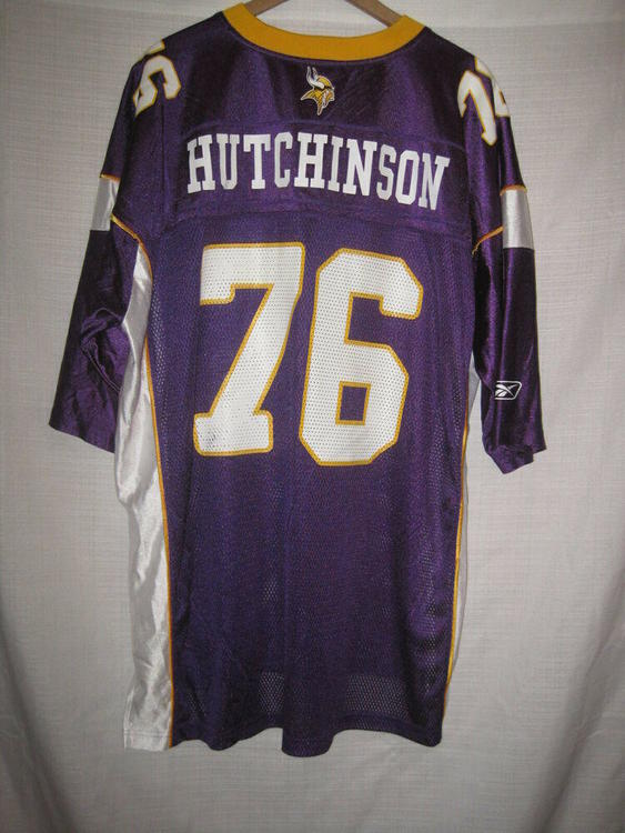 Hot Reebok Minnesota Vikings Steve Hutchinson Jersey men's XXL  free shipping