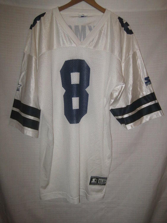 0dbeff28f76 Vintage Dallas Cowboys Troy Aikman Starter Football Jersey men's 52 XL white