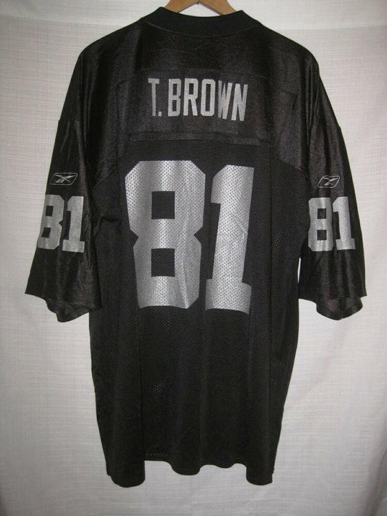 Top Reebok Vintage Oakland Raiders Tim Brown Jersey men's XL black LA
