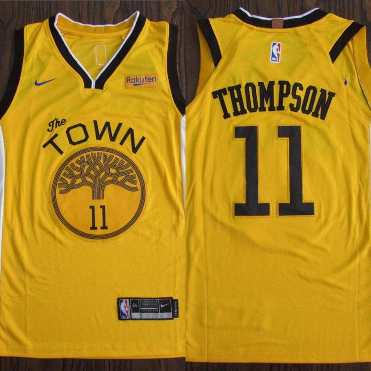 new product 00f1e 04561 Golden State Warriors The Town Thompson #11 NWT Men's Fully Stitched