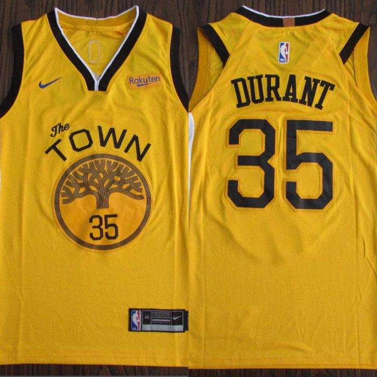 6c16a38bc79 Golden State Warriors The Town Kevin Durant #35 NWT Men's Fully Stitched.  Related Items