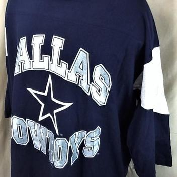 7cb9f911 Vintage 1996 Dallas Cowboys Football Club (XL) Retro NFL 3/4 Sleeve Graphic  T-Shirt