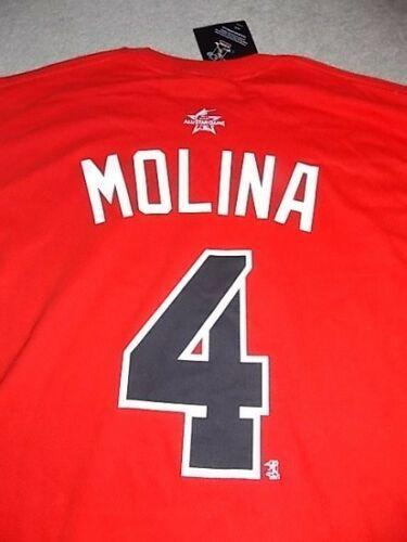 877625f5 Majestic YADIER MOLINA ST LOUIS CARDINALS 2017 ALL STAR GAME T-SHIRT ...