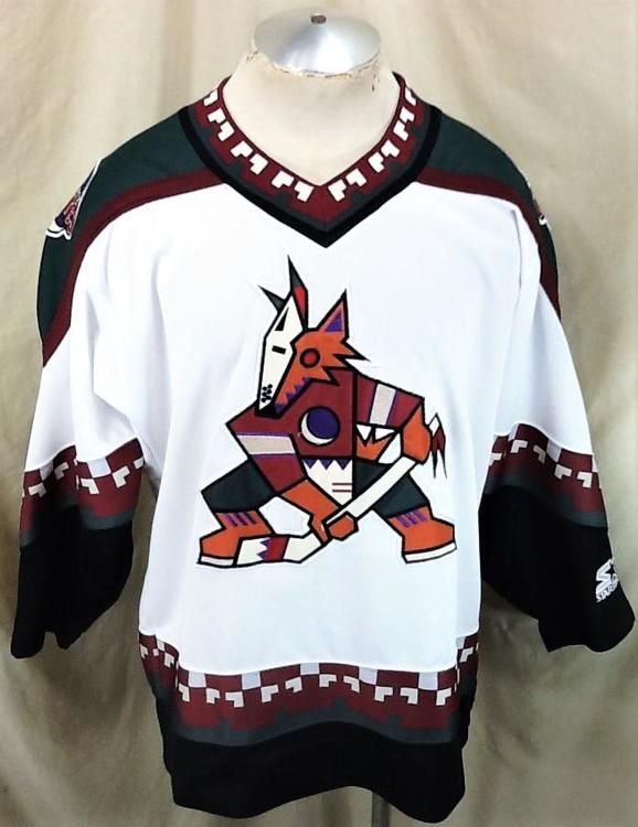 reputable site 8122a e0b1f Vintage 90's Starter Phoenix Coyotes (Medium) Pullover Knit NHL Hockey  White Jersey