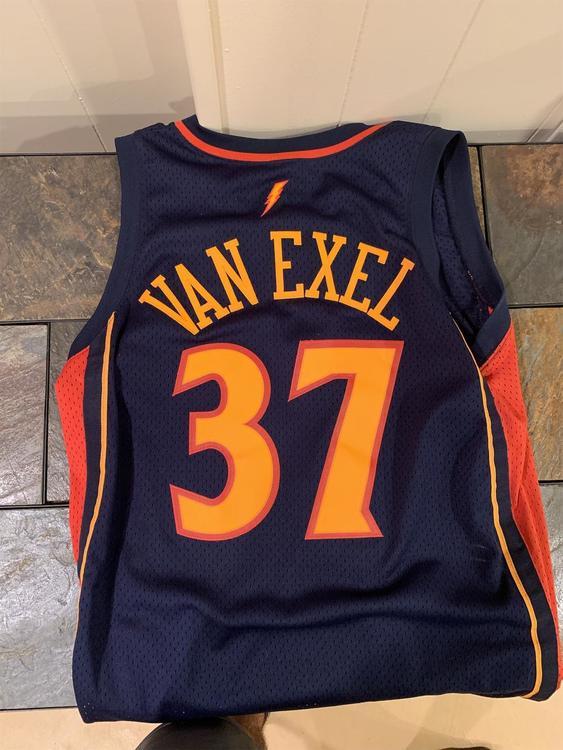 detailed look 315fd 4262f Nick Van Exel Golden State Warriors Jersey