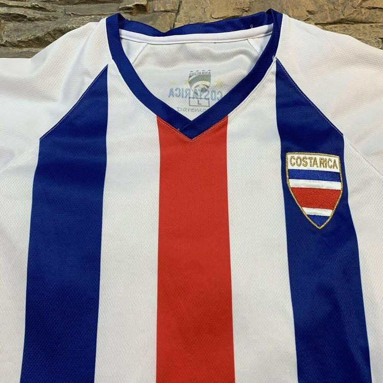 best authentic e0440 a49b4 Costa Rica National Soccer Team Jersey Red White Blue Striped Mens Large