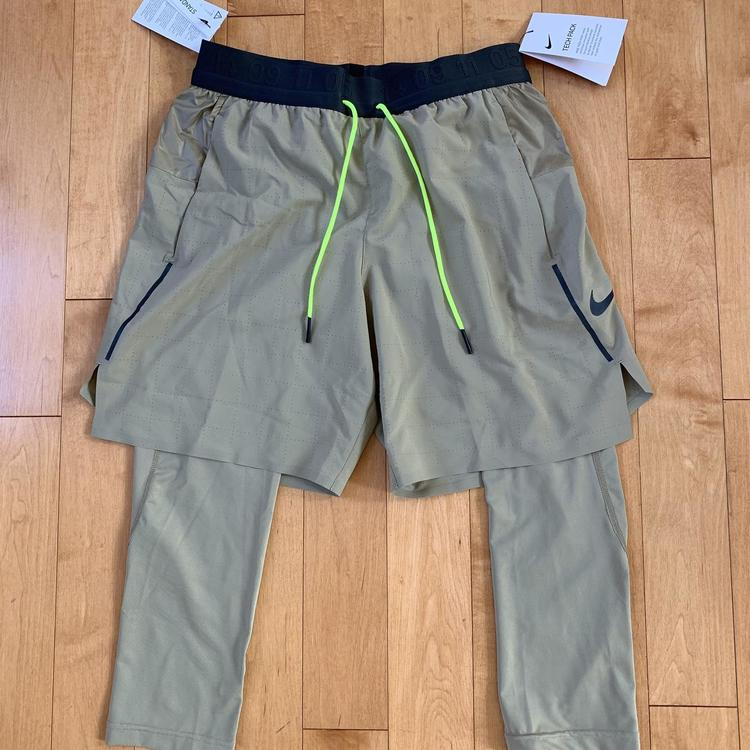 3aff6f52b MEN'S SIZE SMALL NIKE TECH PACK 2-IN-1 RUNNING SHORTS NWT (AR9823-284) MSRP  $100