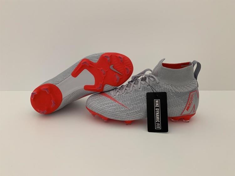 34b7b801f Sizes 5.5 + 6 Nike Mercurial Superfly 6 Elite FG Gray Red ACC Soccer Cleats  Jr (AH7340-060)