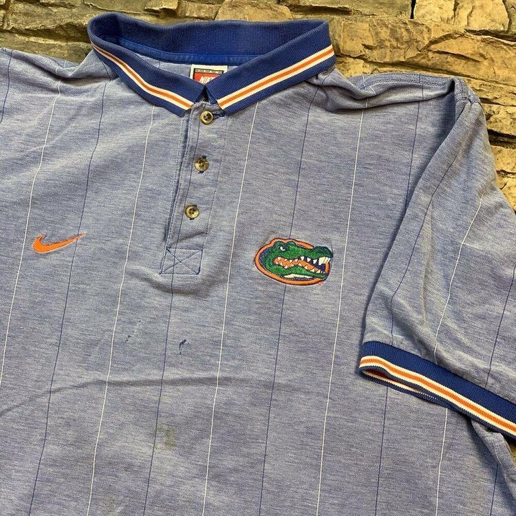 afa83c8a4 Nike VTG Florida Gators Polo Shirt UF ACC NCAA 1990s College Sports ...