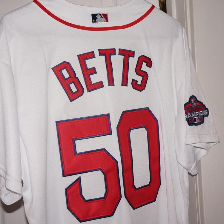brand new 0be6a a67e0 New Mookie Betts 2016 World Series Patch Medium Majestic Jersey