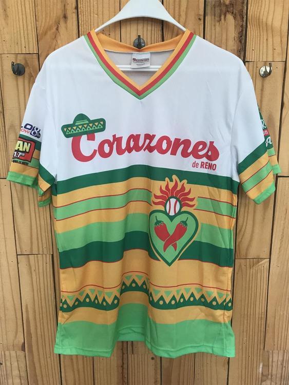 """Reno Aces """"Los Corazones de Reno"""" Greater Nevada Field SGA Jersey"""