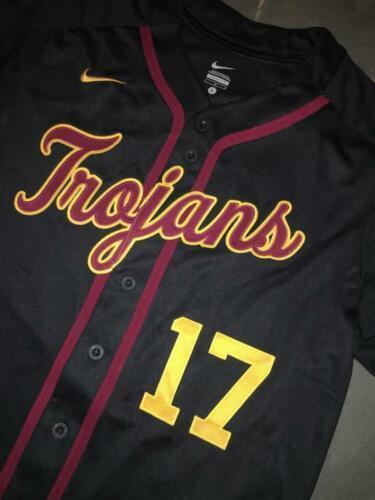 release date: 80a2c 5d635 New RARE USC TROJANS #17 NIKE Baseball Jersey LG Sewn