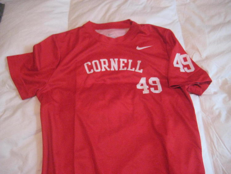 newest 91cab e2eb6 Nike Cornell lacrosse team shooter shirt NEW youth medium Big Red