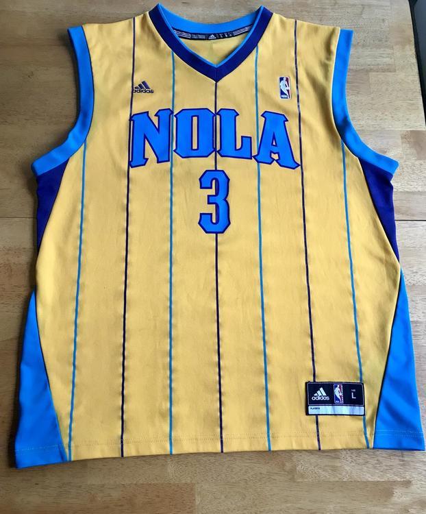 online retailer 83a73 2d121 Chris Paul NOLA Mardi Gras 2010 Special Edition Hornets Jersey - Adidas  Men's Large