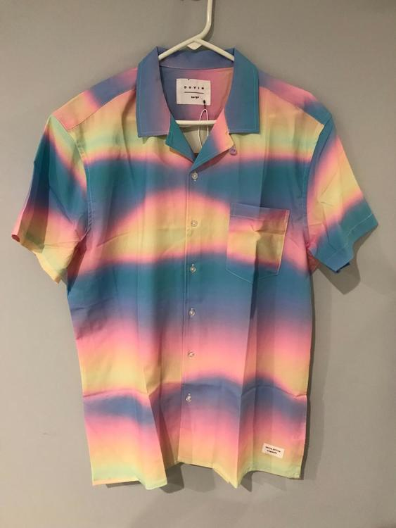6f090753 The Filthy Flamingo Surf Gang TieDye Button Up Large Bin3