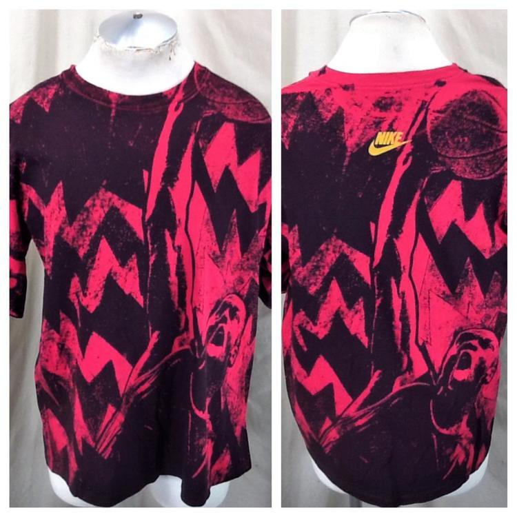 outlet store ad7e6 2bbc0 Vintage 90's Nike Michael Jordan #23 (Large) Retro NBA Bulls All Over Print  T-Shirt